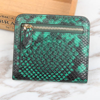 2017 Ladies Purse Made Of Genuine Leather Female Clutch Bag Green Snake Women Wallets High Quality