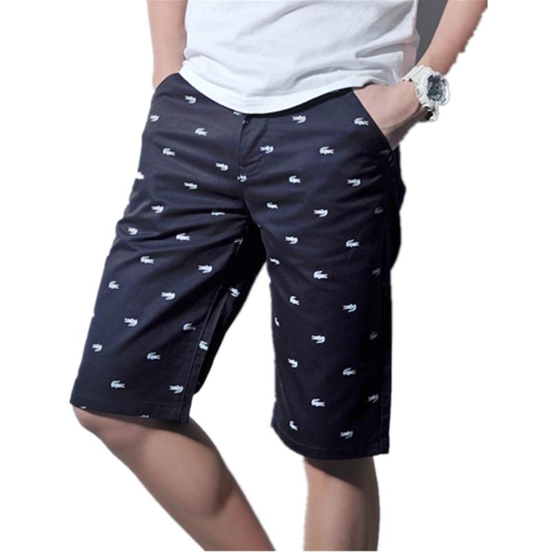 Mens Shorts 2016 Summer Casual 100% Cotton Men's crocodile ...