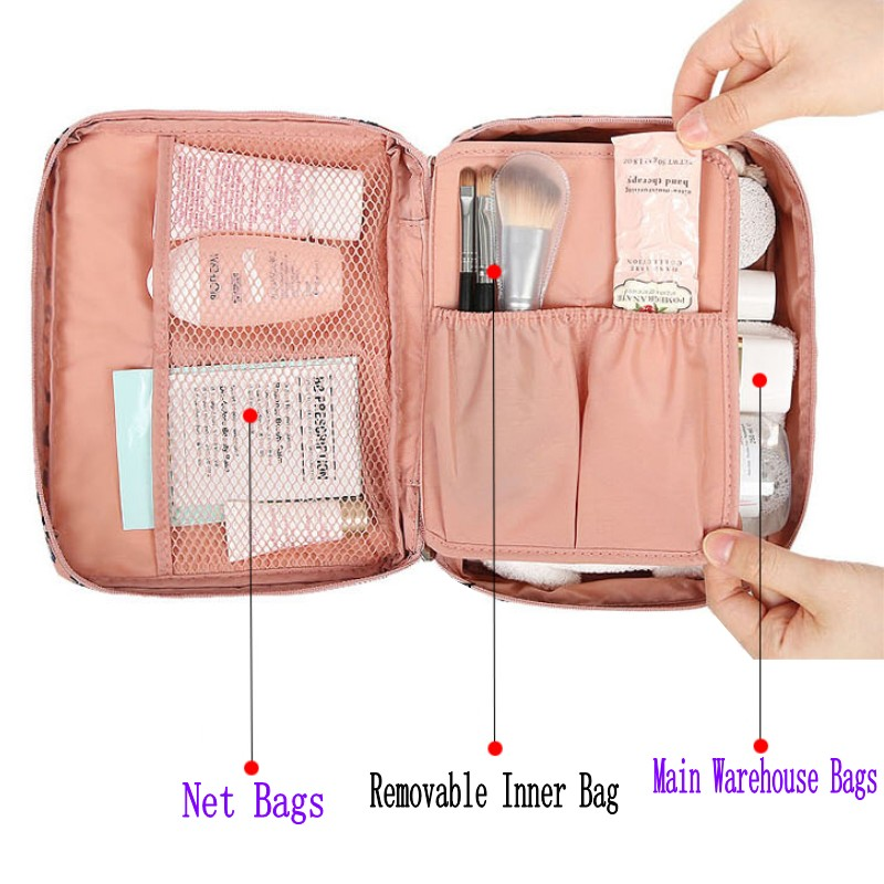 2019 New Cosmetic Bag Fashion Multi-function Oxford Travel Storage Makeup Bag Men Women Portable Waterproof Wash Bag 30 1