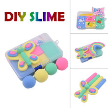 4 Color Mixing DIY Fruit Fluffy Slime Cloud Slime Modeling Clay Rainbow Slime Toy For Kids Children Antistress Reliever 50(China)