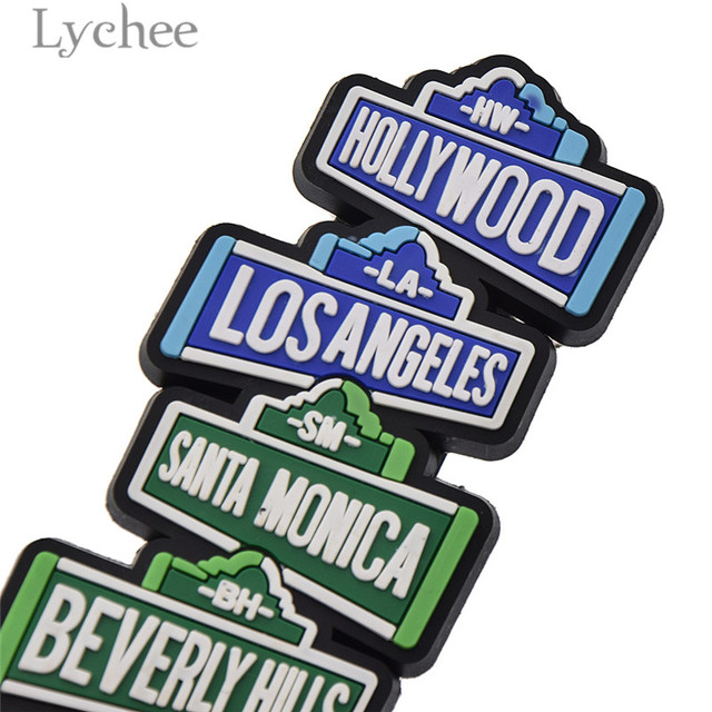 Lychee Life Hollywood Funny Rubber Fridge Magnet Creative 3D Refrigerator Magnet Tourist Souvenirs Home Decoration 2