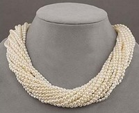 very good NEW ARRIVE NATURAL 12 strands Very beautiful AAA+ south sea white PEARL NECKLACE Silver hook Wholesale Jewelry necklac