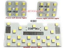 Juillet Roi LED Lampes De Lecture Intérieure de, 5050 SMD LED Voiture Lumières Décoratives pour Toyota Reiz/Mark X 2005 ~ SUR, 3 pcs/ensemble