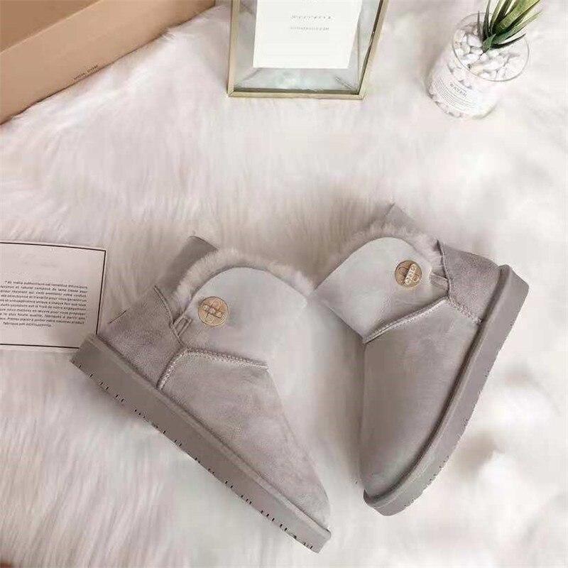 grwg Classic Shoes Women Natural Wool Sheepskin Women Boots Women's Real Fur Genuine Sheepskin Leather Snow Boots Women цена