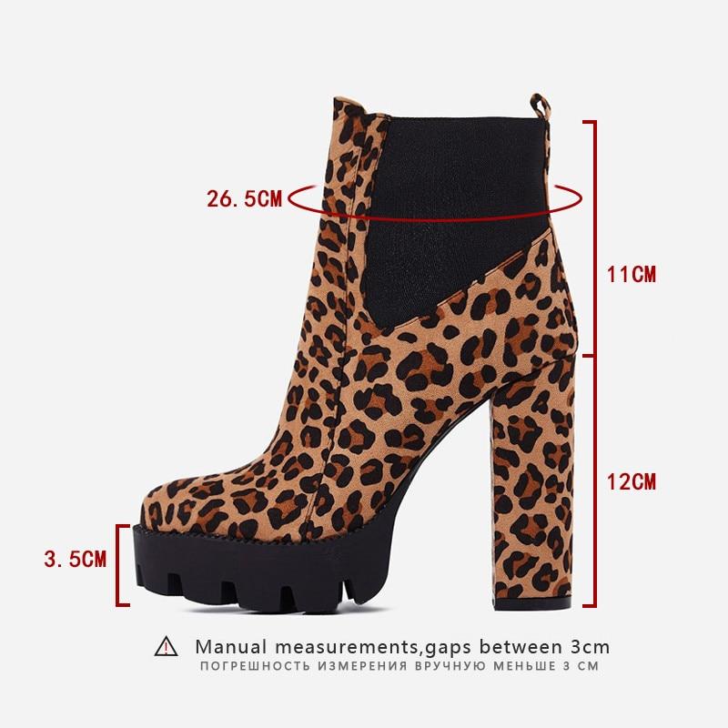 Frauen Yellow Partei Weiß High Sarairis Neue Frühling Heels Zip Leopard Stiefeletten Casual Frau Schuhe ginger Platz Mode Plattform Herbst qBfwAt