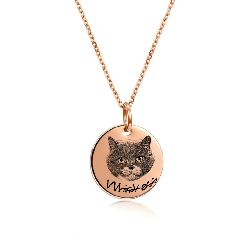 Your Pet Photo Neckla-Custom Dog Necklace Pet Gift Personalized Dog Photo Necklace Pendant Best Friend Gift image