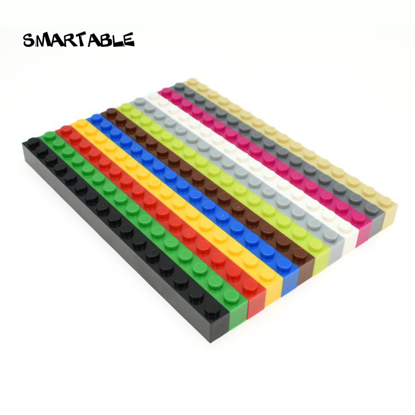 Smartable Brick 1X16 Building Blocks Parts DIY Toys For Kids Educational Creative Compatible Major Brands 2465 MOC Toy 10pcs/lot