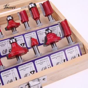 Image 3 - Juego de fresas de madera para carpintería, Set de 15 unidades de fresas para carpintería, fresas de madera, fresas de vástago de carburo, juego de herramientas de Fresa de madera