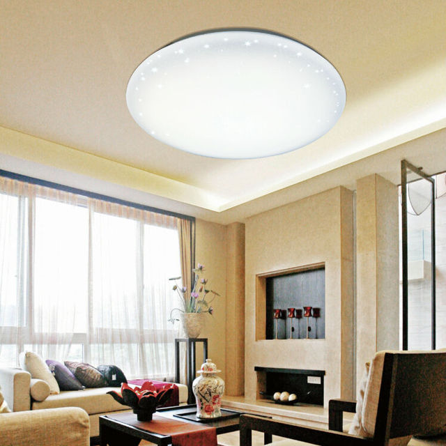 Starlight Effect 22w 45dx5 8cm Daylight 1700lm Surface Mounted Led Ceiling Light Fixtures For Living Room Bedroom Dining
