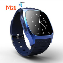 Bluetooth Smart Watch M26 BT notification Dial SMS Remind Music Player Pedometer for Android Samsung Smartphones