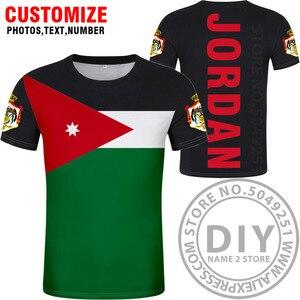 Image 4 - JORDAN t gömlek diy ücretsiz custom made adı numarası jor t shirt ulusal bayrak ülke Hashemite Krallık koleji baskı fotoğraf jo giysileri