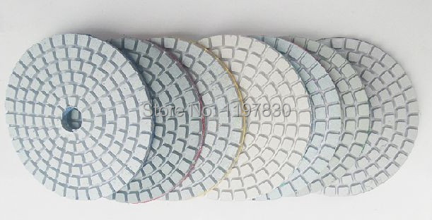 Free Shipping 8PCS/SET 100mm Diamond Water Mansory Polishing Pad Grit With 1pc Of Each Grit As 50/150/300/500/1000/2000/3000#