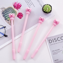40 pz rosa little pig carino cartone animato penna neutro nero 0.5mm penna stilografica studente di cancelleria kawaii penne commercio allingrosso di natale