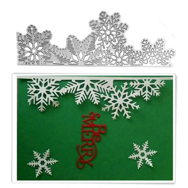1 pz Di Natale Fiocco di neve del Metallo Fustelle In acciaio Al Carbonio Scrapb