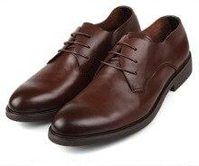 Мода черный/коричневый загар акцентом туфли softe натуральная кожа повседневная бизнес обувь новые мужские свадебные туфли