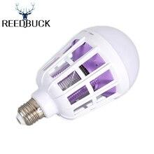 LED Bulb 2 in 1 Mosquito Killer Lamp E27 LED 15W AC 220V Electric Trap Pest Moth Wasp Bug Mosquito Killer Light Led UV Bulb Lamp