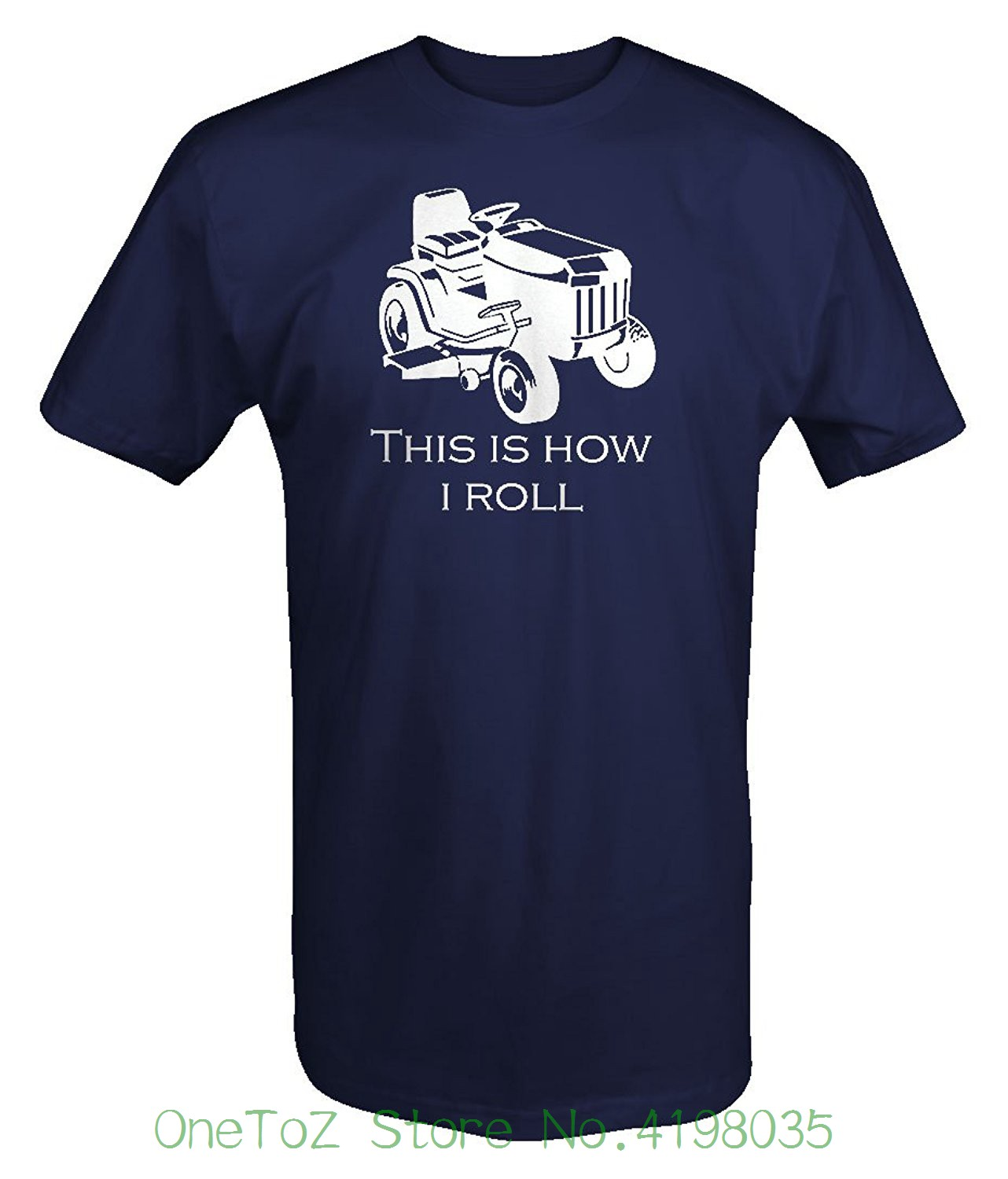 This Is How I Roll Riding Lawn Mower Grass Cutting Landscaping T Shirt Funny Short Sleeve Cotton T-shirts