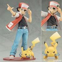 2pcs Set Cartoon Pikachu Ash Ketchum Pikachu Squirtle Charmander Anime Action Figure PVC Toys Collection Figures