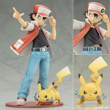 2pcs/set Cartoon Pikachu Ash ketchum pikachu Squirtle Charmander Anime Action Figure PVC toys Collection figures Collection