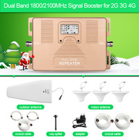 ATNJ Dual Band Repeater 1800 2100mhz 2G 3G 4G Phone Signal Booster With LCD Screen Include