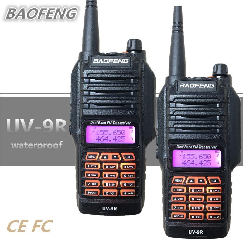 2 pièces Baofeng UV-9R Talkie-walkie 8 W Étanche IP67 10 KM Radio VHF Mobiles HF Émetteur-Récepteur Comunicador Talky Walky UV9R