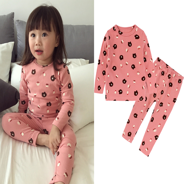 6957cd5935 Baby kids pajama sets boys Cartoon pijamas children cotton Casual Family sleepwear  children s pajamas girls cute pajamasDCC039