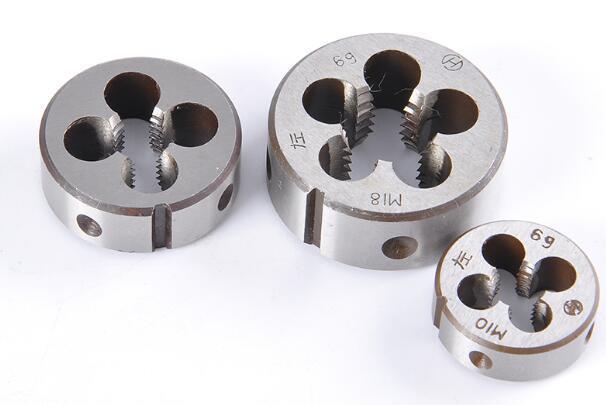HSS mão Esquerda fio Roud die m2.5 m3 m4 m5 m6 m7 m8 m9 m10 m12 * 1.75/1.5 /1.25/1.0/0.75/0.5/0.25mm fina e afinação padrão