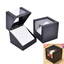 Wrist Plastic Earring Display Storage Holder Transparent Case valentine's Day Anniversary Gift Watch Box 78*78mm Random color(China)