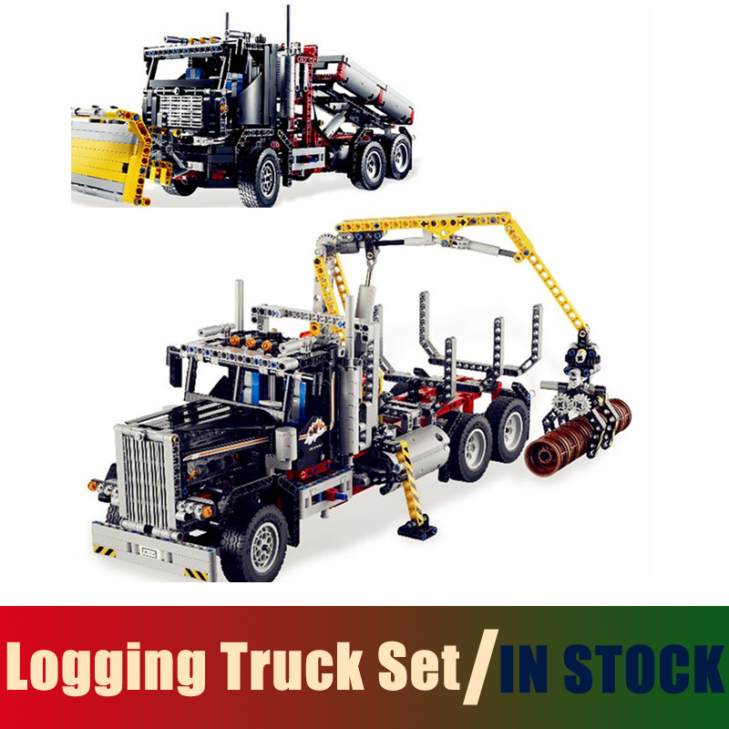 Compatible Lego Technic Series 9397 Models Building Toy Logging Truck Set 1338pcs 20059 Building Blocks Toys & Hobbies building block set compatible with lego bang bao fairy series kung fu fight inserted blocks toy mysterious dragon hegemony 6606