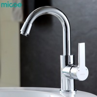Micoe Hot And Cold Water Kitchen Faucet Mixer Single Handle Single Hole Modern Style Chrome Tap
