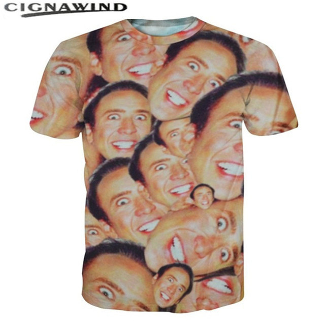 0aa9b569f9109 New Fashion Nicolas cage t shirts all over printed 3d funny T shirt  men women short sleeve tee shirts casual streetwear tops