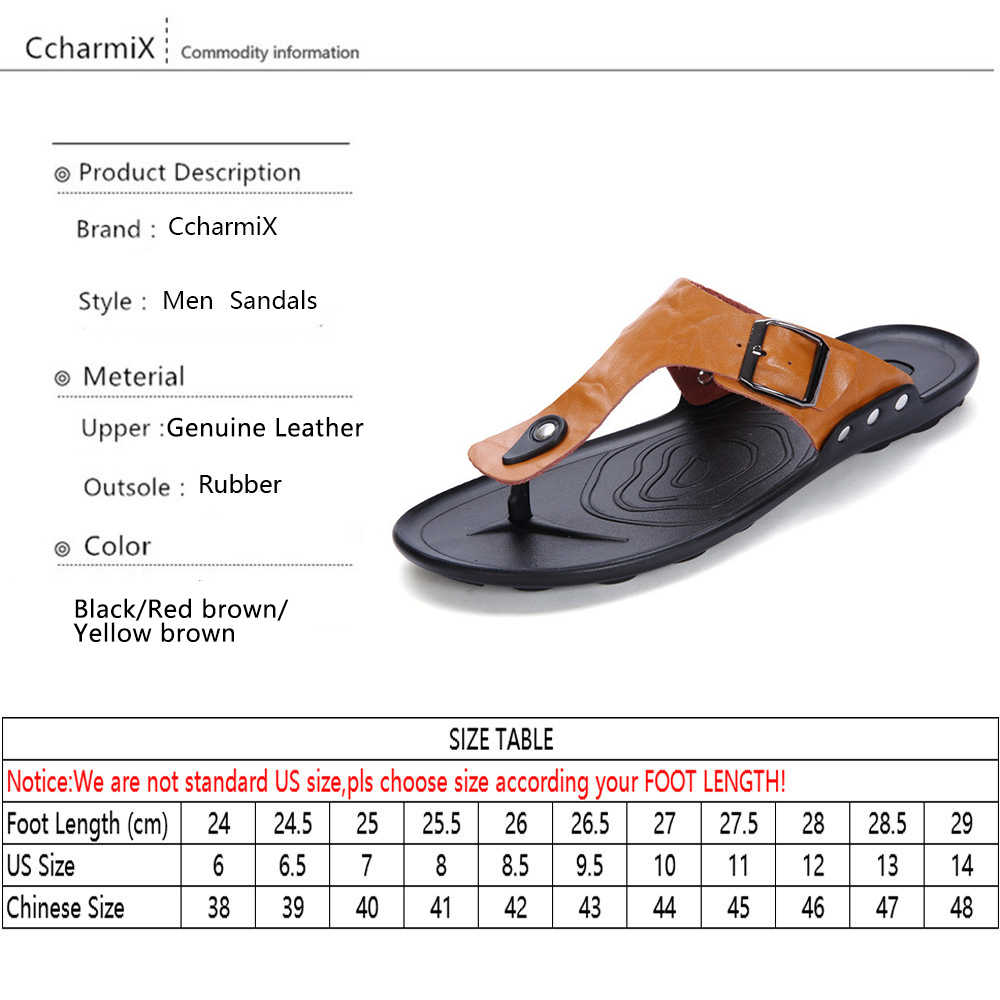 4858f580bbea1 ... CcharmiX 2019 Summer Men Flip Flop Beach Mens Slippers Casual Office  Top Quality Leather Male Footwear