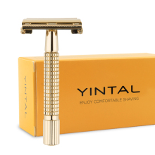 лучшая цена Men Shaving Razor Classic Safety Razor Brass Handle Chrome Handle Butterfly Manual Razors Double Edge  Razor