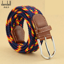 DANDALI Womens Dress Flower Belts For Women Pin Buckle Woven Elastic Strap Waist Cowboy Soft Leather Fashion Belt Waistband