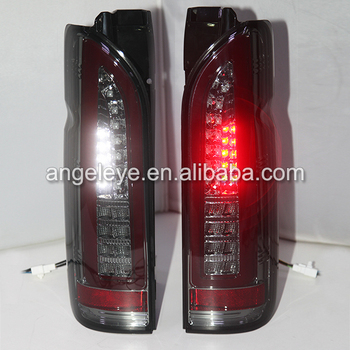 For TOYOTA Hiace LED Tail Lamp Smoke Black Color 2014-2015 year SN