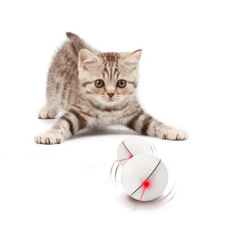 Perfect Toy Keep Your Pet Busy LED Laser Red Light Electronic Rolling Ball Toys