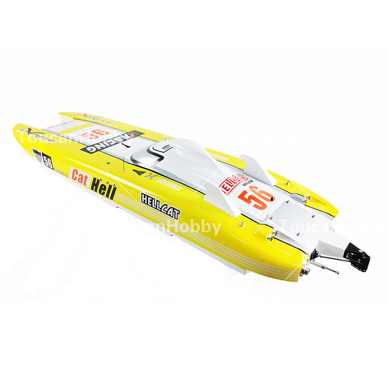 G30E ARTR FiberGlass Gasoline RC Racing Boat 30CC Engine Water Cooling Sys Yellow cnc aluminum water cooling jacket for 29cc zenoah engine rc boat