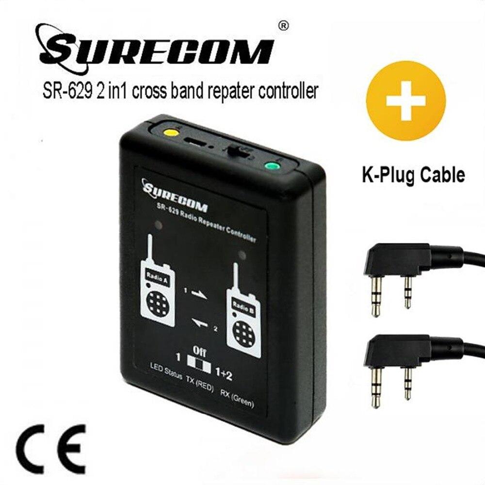 Produit CHAUD SURECOM SR-629 2 dans 1 Duplex Répéteur Contrôleur avec talkie walkie Câble