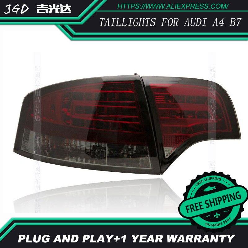 Стайлинга автомобилей задние фонари для Audi A4 B7 задние фонари светодиодные Задний фонарь задний багажник крышка лампы DRL + сигнала + тормоз + о