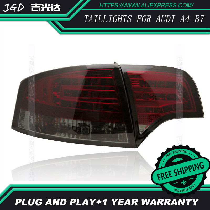 Car Styling tail lights for Audi A4 B7 taillights LED Tail Lamp rear trunk lamp cover drl+signal+brake+reverse car styling tail lights for ford ecopsort 2014 2015 led tail lamp rear trunk lamp cover drl signal brake reverse