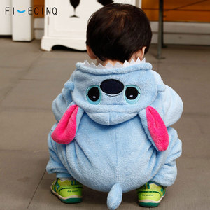Image 5 - Baby Kigurumis Boy Girl Costume Warm Soft Flannel Pajama Onesie Cartoon Anime Cosplay Kid Birthday Gift Party Suit Fancy