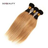 Bundles Brazilian straight Bundles Ombre Hair Bundles Brazilian Hair Weave Bundles Remy Human Hair Extensions blonde color
