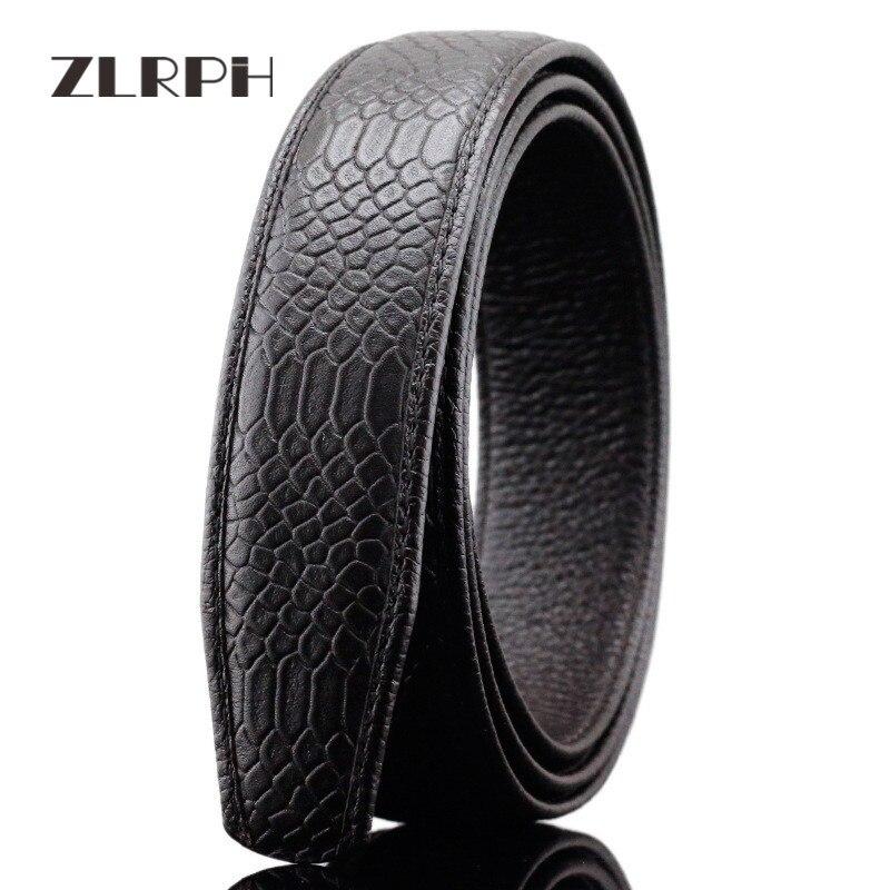 ZLRPH Haute-grade d'affaires double-face en cuir ceinture mâle ceinture grand filet serpent motif GZYY-LY3211