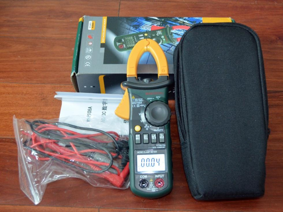 MS2108A 4000 AC DC Current Clamp Meter backlight Frq Cap CATIII vs hol 2108 2115