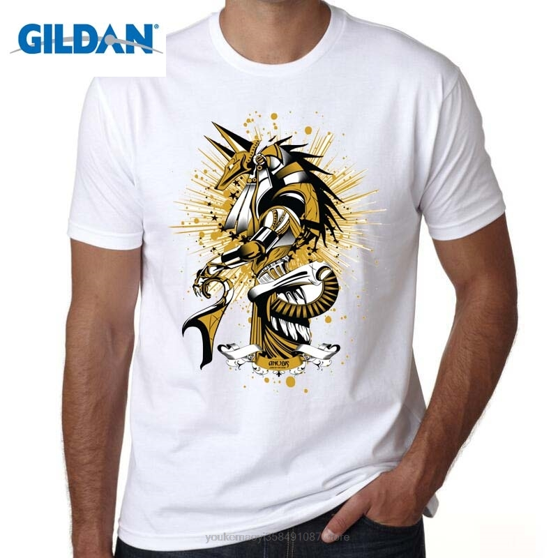 GILDAN Anubis T Shirt Egyptian Goddess Bastet T-shirt Egypt Cool Design Mystery Tshirt Exclusive Pattern Tee For Men