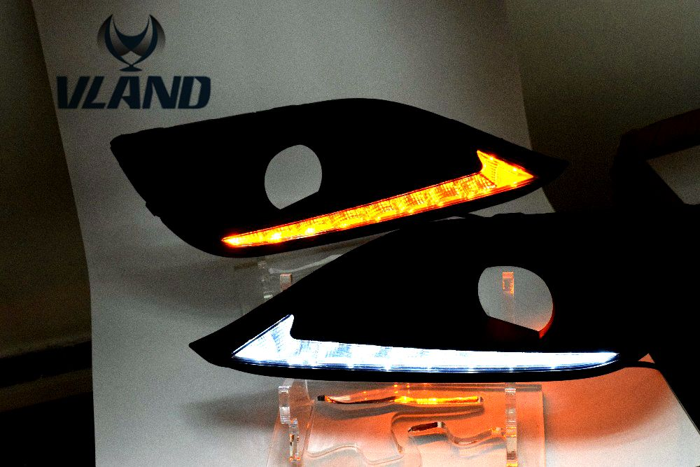 Free shipping vland factory  for Crvv Daytime Running Light LED 2012-2014 Two color (White and Yellow) High bright
