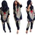 Mujeres Vestidos Para Las Mujeres de la Ropa Africana Tradicional Nuevo Estilo De África de Gran Alegría Y del Servicio Nacional de Viento Dos conjuntos