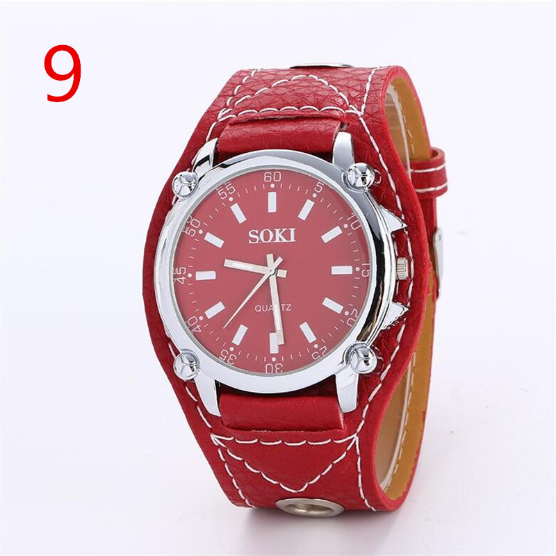 Multi-function men's watch quartz non-mechanical watch male student waterproof leather fashion trend big dial men's watch multi function watch fashion men s leather quartz watch