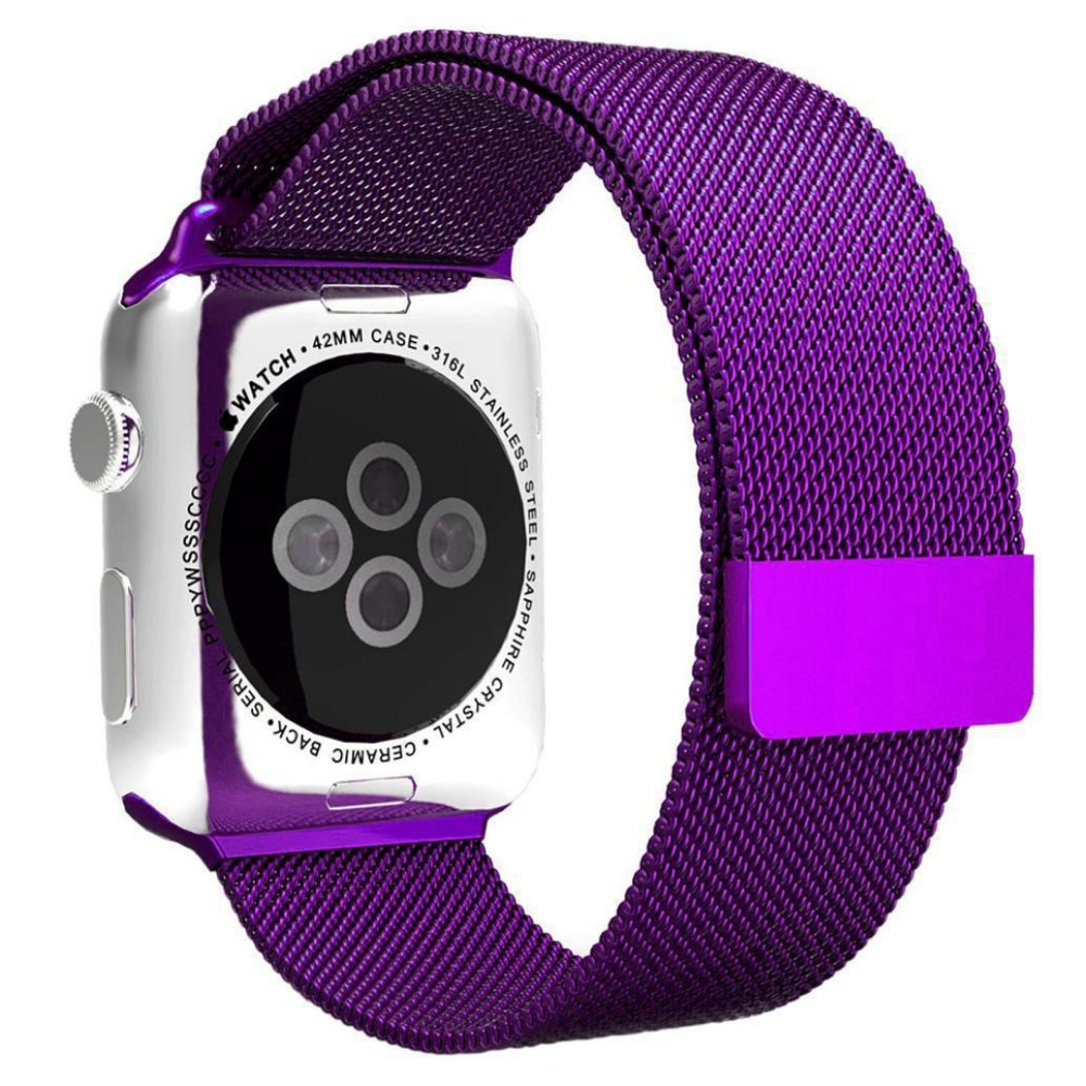 New Fashion For Apple Watch Purple Milanese Loop Watch