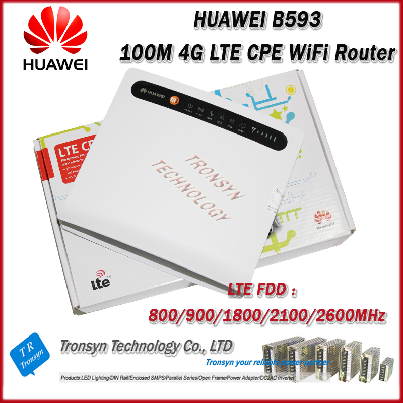 100Mbps Huawei B593 4G LTE CPE Industrial WiFi Router arderia cpe 25 5a